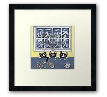 Hanukkah Kitties Framed Print