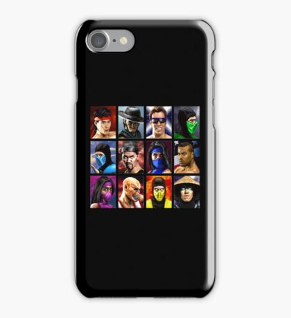 Mortal Kombat 2 - Character Select - Clean iPhone Case/Skin