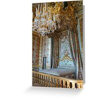 Marie Antoinette's Bed Greeting Card