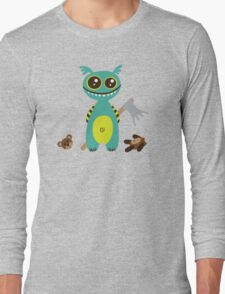 Cute Monster with Headless Teddy Long Sleeve T-Shirt