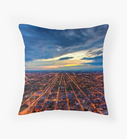 Looking West from Sears Tower. Throw Pillow