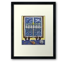 Hanukkah Cats Framed Print
