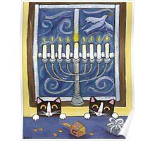 Hanukkah Cats Poster