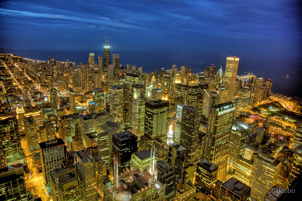 Looking Northeast from Sears Tower. by delobbo