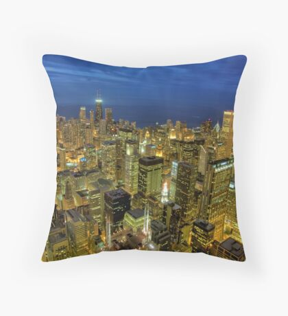 Looking Northeast from Sears Tower. Throw Pillow
