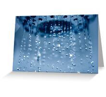 shower sparkle Greeting Card