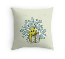 Boring Blah Monster Throw Pillow
