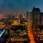 Stormy Night - Looking West from the Chicago Loop. by delobbo