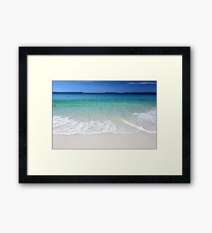 Hyams beach wave Framed Print