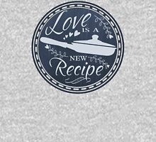 Love is a new recipe cooking chef culinary chalkboard Womens Fitted T-Shirt