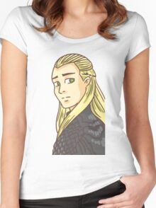 Legolas Greenleaf: Lord of the Rings Women's Fitted Scoop T-Shirt