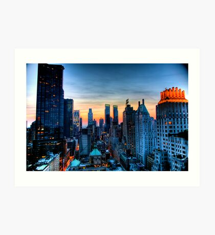 Looking West from 6th Street Manhattan, NYC. Art Print