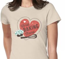 World Baking Champ cupcake whisk bakery t-shirt Womens Fitted T-Shirt