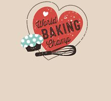 World Baking Champ cupcake whisk bakery t-shirt Womens T-Shirt