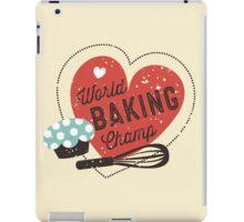 World Baking Champ cupcake whisk bakery t-shirt iPad Case/Skin