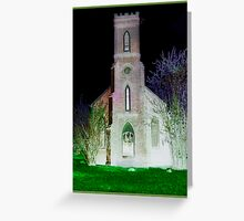 Old Empty Gothic Church in the Woods Greeting Card
