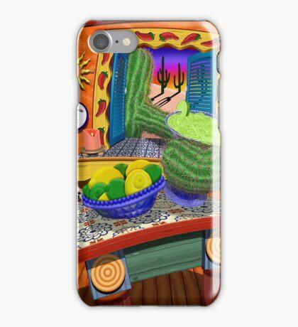 A Citris Sunset Cactus Reaching For Margarita iPhone Case/Skin