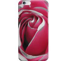 Rose in grey & pink iPhone Case/Skin