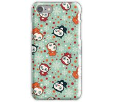 CUte Little Owls on Turquoise Background Pattern. iPhone Case/Skin