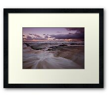 Bar Beach at Dusk 5 Framed Print