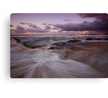 Bar Beach at Dusk 5 Canvas Print