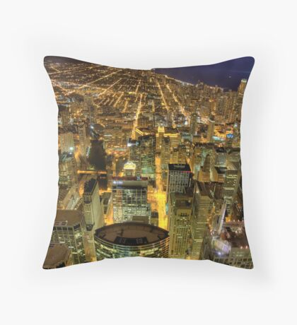 Looking North from Sears Tower. Throw Pillow