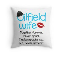 Oilfield Wife - Blue - No Background Throw Pillow