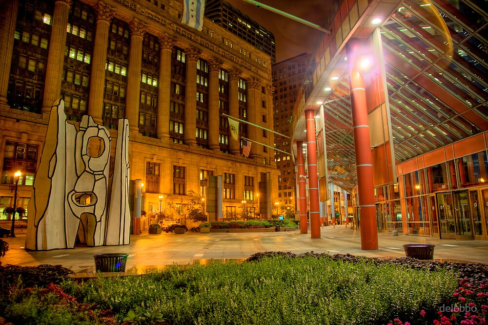 State of Illinois Building Courtyard, Downtown Chicago. by delobbo