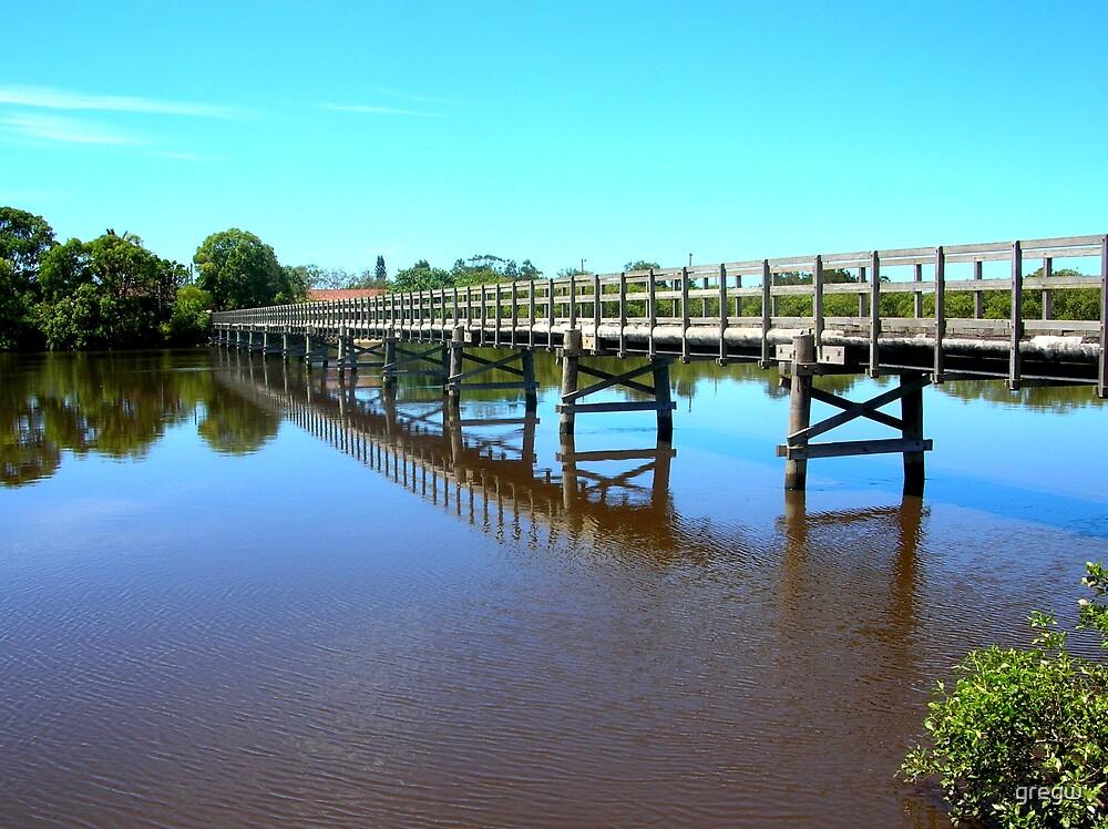 Brunswick Footbridge, Brunswick Heads NSW Australia by gregw
