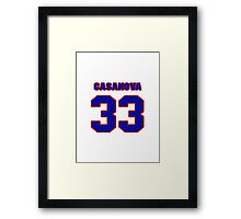 National baseball player Raul Casanova jersey 33 Framed Print
