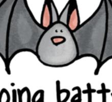 going batty Sticker