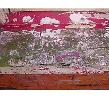 Rusty worn paint Photographic Print