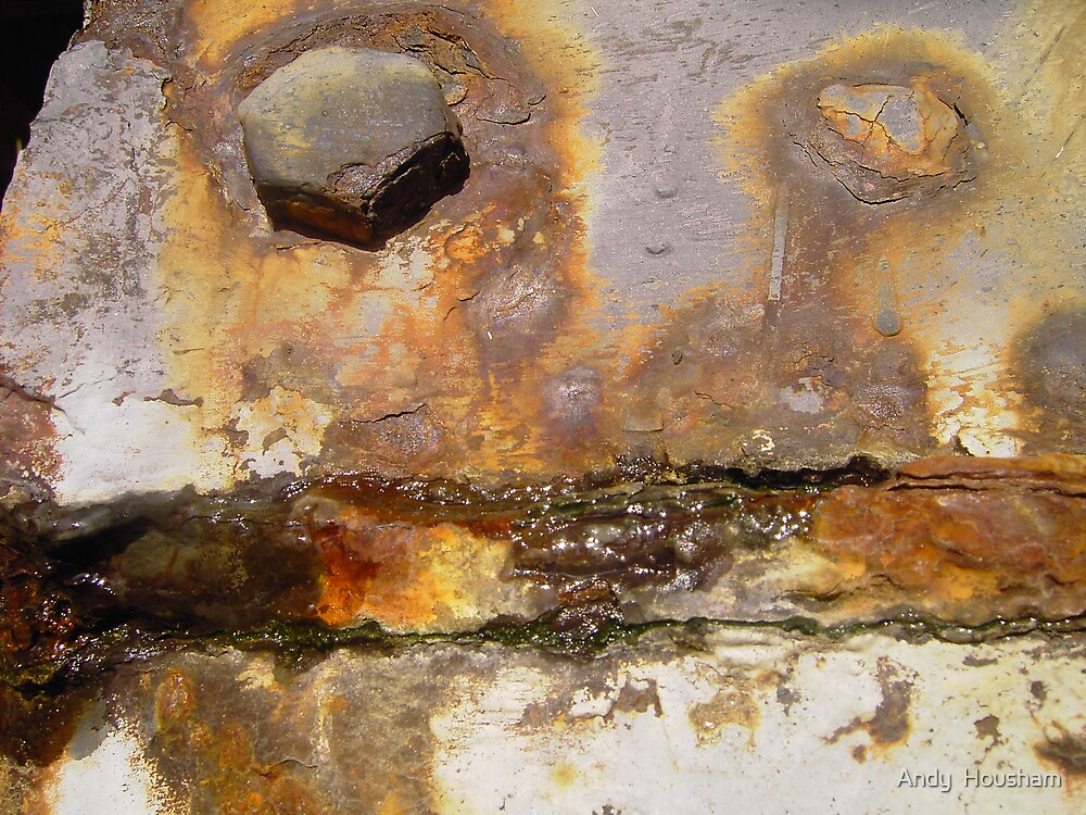Very rusty worn metal by Andy  Housham