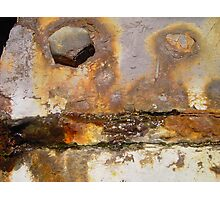 Very rusty worn metal Photographic Print