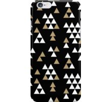 Triangles - geometric triangles in scattered free style gold black white bold modern colors iPhone Case/Skin