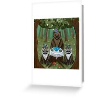 A Forest Tea Party Greeting Card
