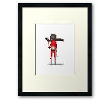 Red doomguy pixelart tribute  Framed Print