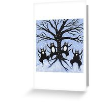 Cats Winter Celebration Greeting Card