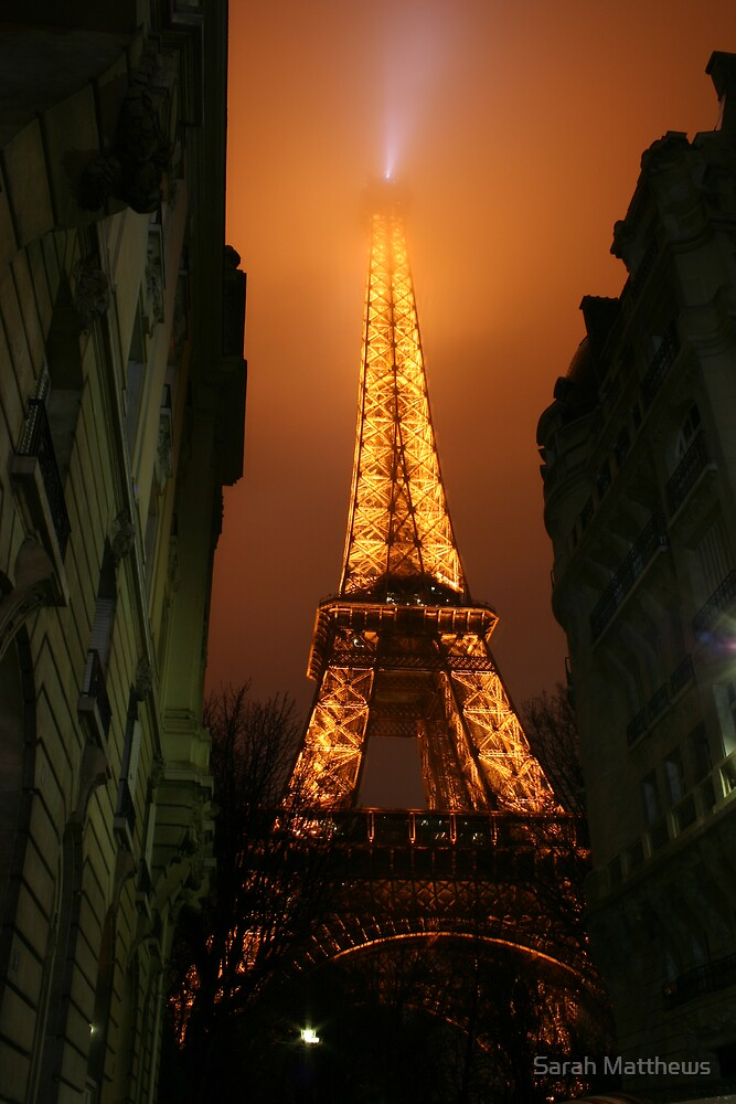 Eiffel Tower with Mist by Sarah Matthews