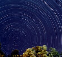 Golden Beach Startrails by Lindsay Knowles