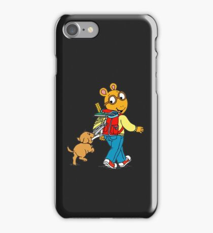 arthur and dog iPhone Case/Skin