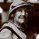 Elderly lady in sepia by Sheila  Smart