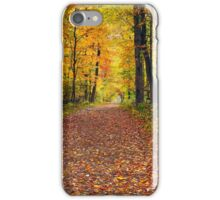 Walk in the Autumn Wood iPhone Case/Skin