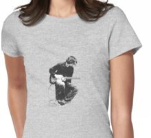 Guitarman (in greyscale) Womens Fitted T-Shirt