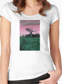 The Rihanna Tree, Playing With Pink! Women's Fitted Scoop T-Shirt