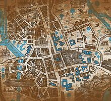 Distressed Maps: His Dark Materials Lyra's Oxford by Alice Edwards