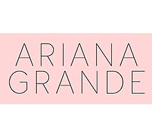 Ariana Grande Logo (Yours Truly Era) Photographic Print