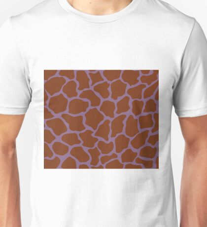 French Lilac or Pomp And Power in Giraffe Pattern  Unisex T-Shirt