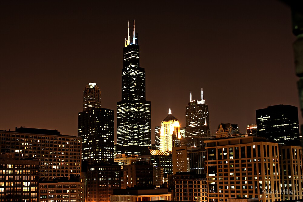 Chicago @ Night by Kevin Miller