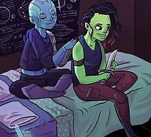 Teen Nebula + Gamora by Maddie Chaffer